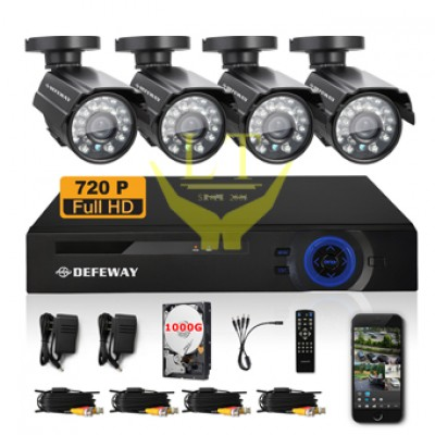 Set KIT 8CH + DVR 1Megapixel